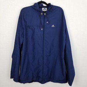Vintage Adidas Navy Zip Windbreaker Jacket M32